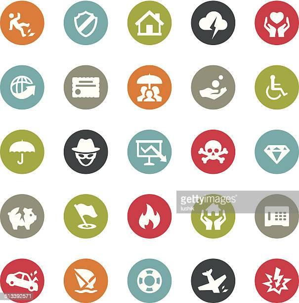 Seguros iconos/serie Ringico