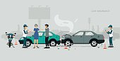 Employees of car insurance companies are investigating information about road accidents.