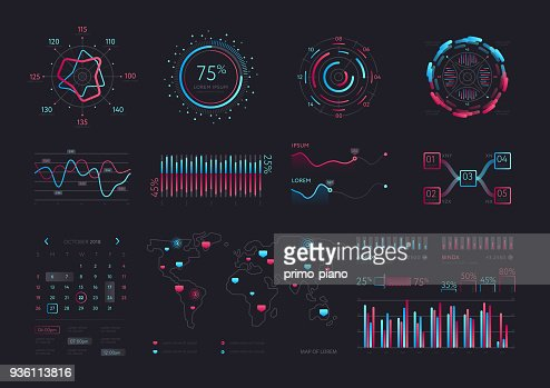 Intelligent technology hud vector interface : stock vector