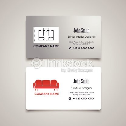 Interior and furniture designer vector business card template vector interior and furniture designer vector business card template vector art reheart Gallery