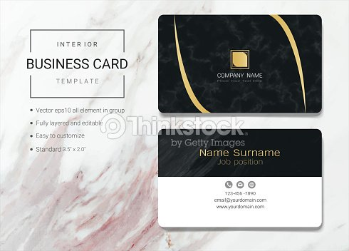 Interior business card or name card template simple style also interior business card or name card template simple style also modern and elegant with marbling wajeb Image collections