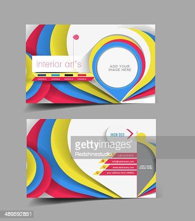 Interior Designer Business Card Vector Art Thinkstock