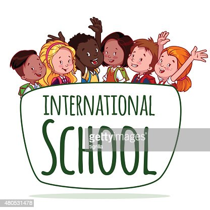 International School. Template logo : Vectorkunst