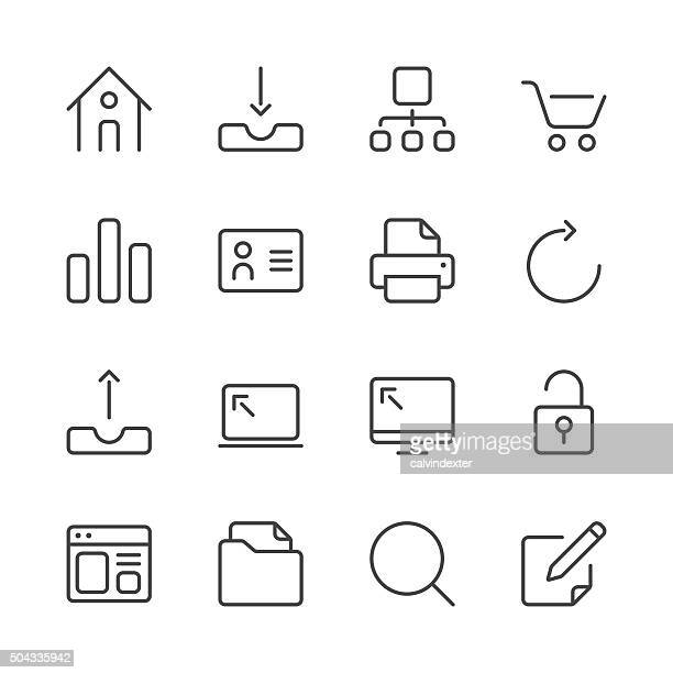 Internet and Website Icons set 1 | Black Line series