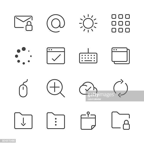Site Web et Internet icônes set 4/Black Line series