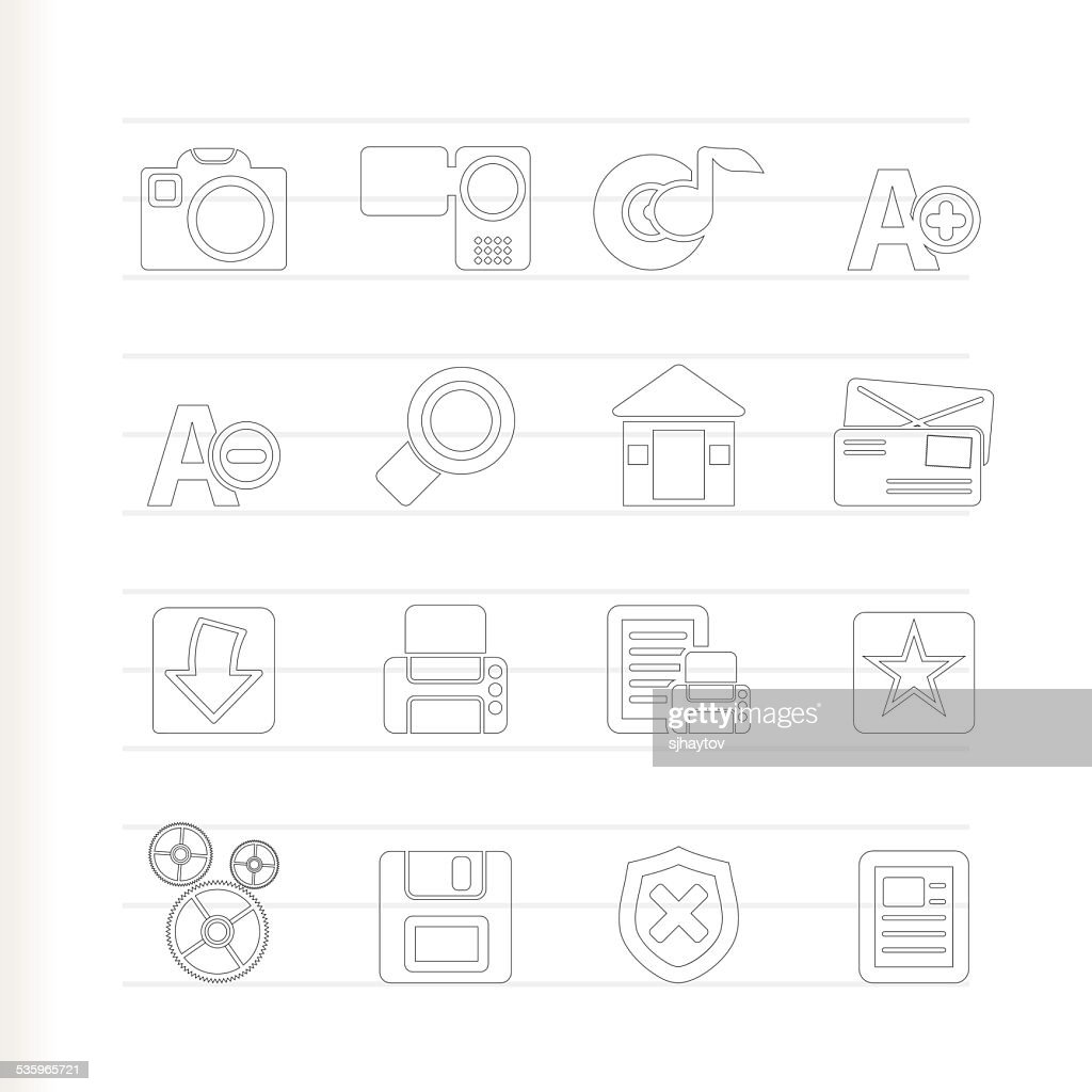 Internet and Website icons : Vector Art