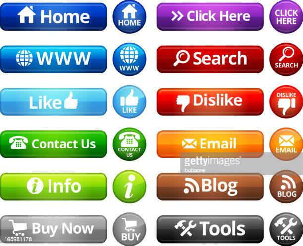 Internet Buttons royalty free vector set