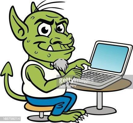 Internet Ordinateur Troll Clipart Vectoriel Getty Images