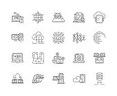 Internet connection line icons, linear signs, vector set, outline concept illustration