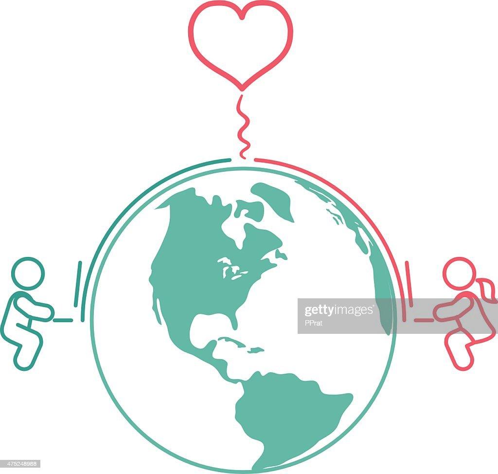 Long distance internet relationships
