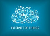 Internet of things (IoT) concept with cloud computing