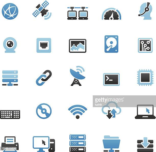 Internet related vector icons set