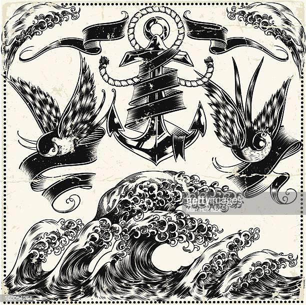 Obtener ilustración de náutica símbolos