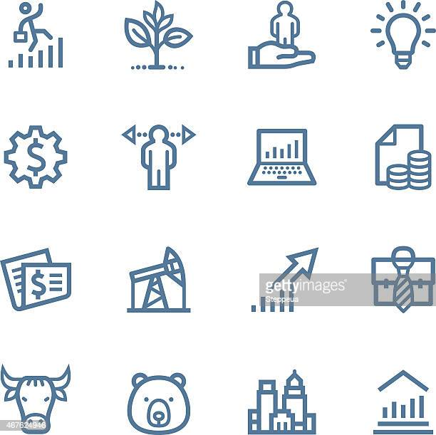 Investing and Finance Line icons