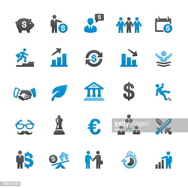 Investment Strategy related vector icons