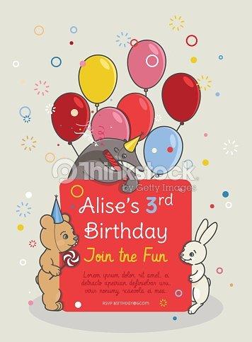 Invitation Card For Children S Birthday Party Vector Art Thinkstock