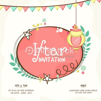 Invitation card for holy month ramadan kareem iftar party vector art invitation card for holy month ramadan kareem iftar party vector art stopboris Image collections