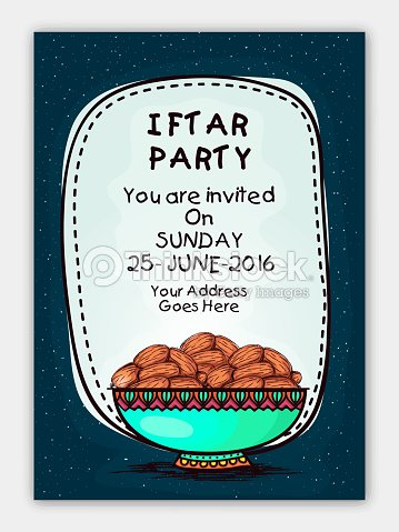 Invitation card for iftar party celebration vector art thinkstock invitation card for iftar party celebration vector art stopboris Image collections