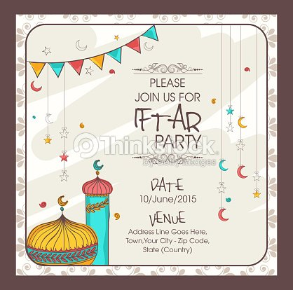 Invitation card for ramadan kareem iftar party vector art thinkstock invitation card for ramadan kareem iftar party vector art stopboris Images