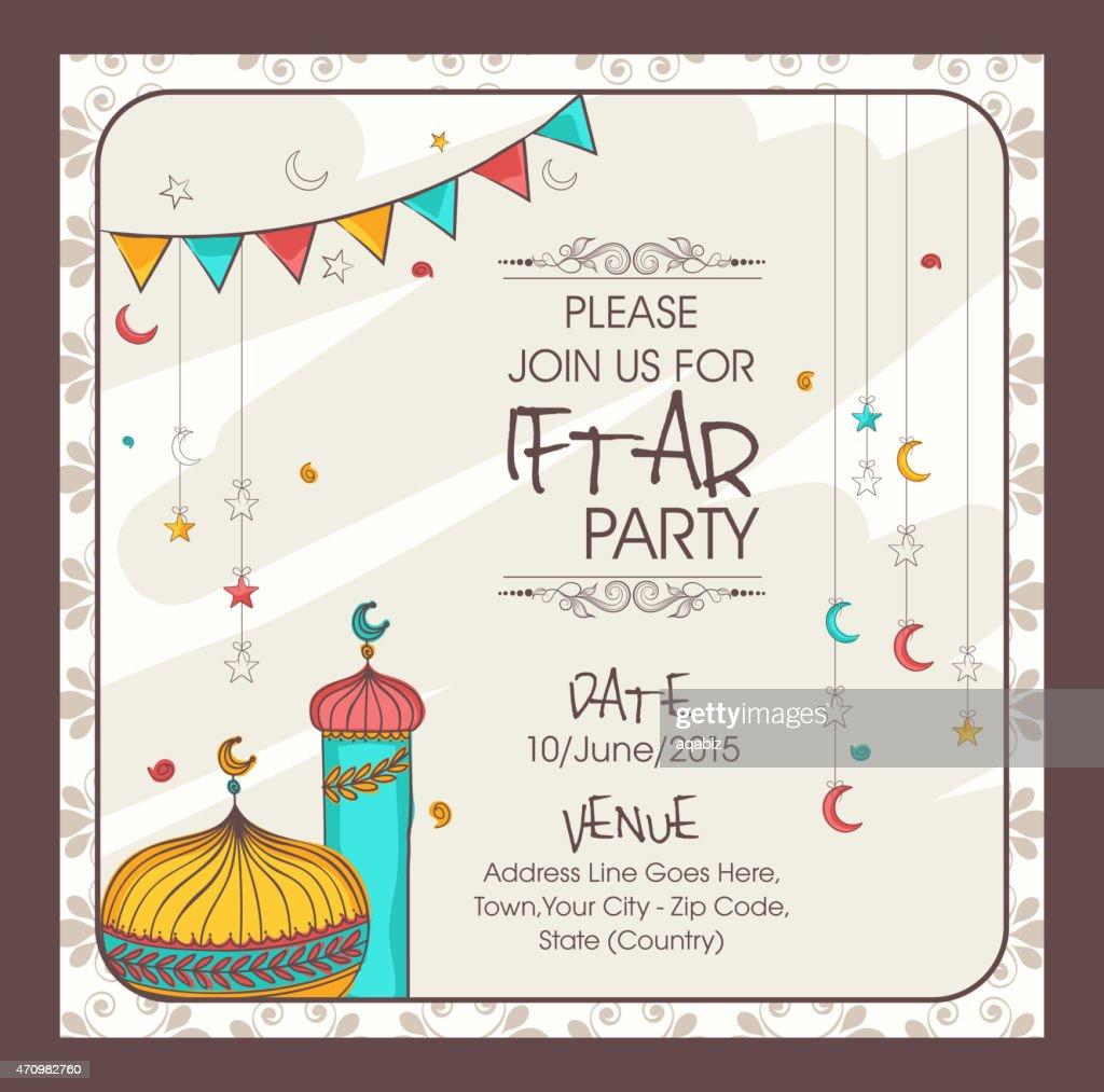 Ramadan iftar clipart great iftar time ramadan with ramadan iftar invitation card for ramadan kareem iftar party vector art with ramadan iftar clipart stopboris Image collections