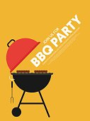 BBQ invitation modern retro vintage style. Design element template can used background, poster, backdrop, publication, vector illustration