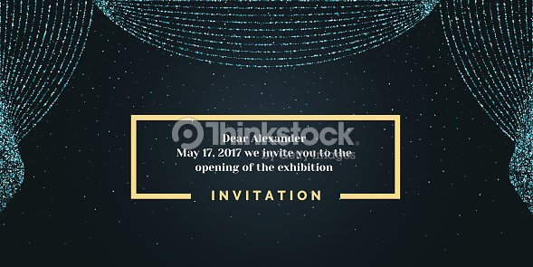 Invitation template for the event background open curtain arte invitation template for the event background open curtain arte vetorial stopboris Image collections