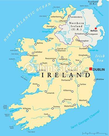 Ireland political map vector art thinkstock ireland political map vector art gumiabroncs Images