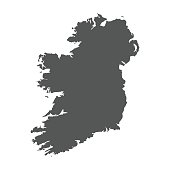 Ireland vector map. Black icon on white background.
