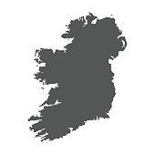 Ireland vector map. Black icon on white background.