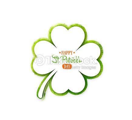 Día De Fiesta Irlandesa San Patricio Trébol Blanco Quatrefoil En ...