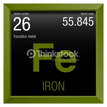 Iron symbol element number 26 of the periodic table of the elements iron symbol element number 26 of the periodic table of the elements chemistry urtaz Gallery