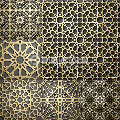 Seamless Arabic Geometric Pattern East Ornament Indian Persian Motif 3D Endless Texture Can Be Used For Wallpaper Fills