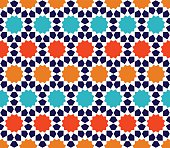 Color Islamic pattern. Seamless vector geometric background in arabian style
