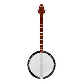 Isolated banjo image. Musical instrument. Vector illustration design