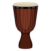 Isolated djembe drum image. Musical instrument. Vector illustration design