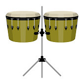 Isolated drums image. Musical instrument. Vector illustration design
