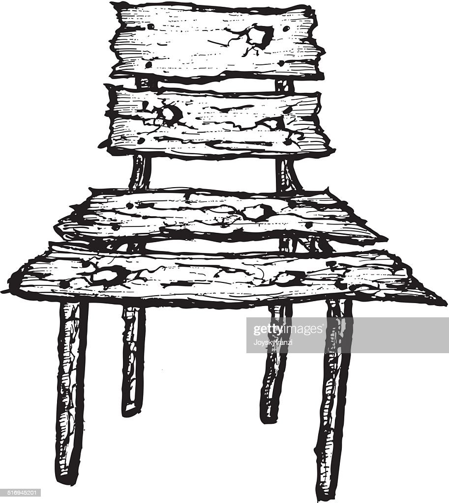 Isolated Hand Drawn Wooden Chair Vector Art Getty Images