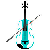 Isolated violin image. Musical instrument. Vector illustration design