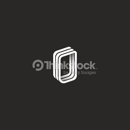 fb7b483088 Monograma de letra 3D isométrico O logotipo, emblema de diseño gráfico  hipster : arte vectorial