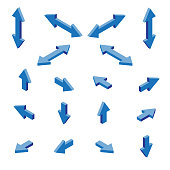 Isometric arrows illustration