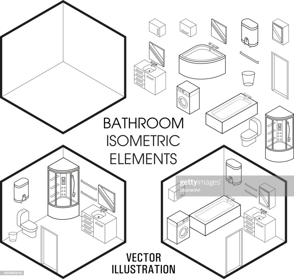 isometric bathroom interior constructor vector set of isometric Element Blu Homes isometric bathroom interior constructor vector set of isometric furniture elements of home interior isolated on