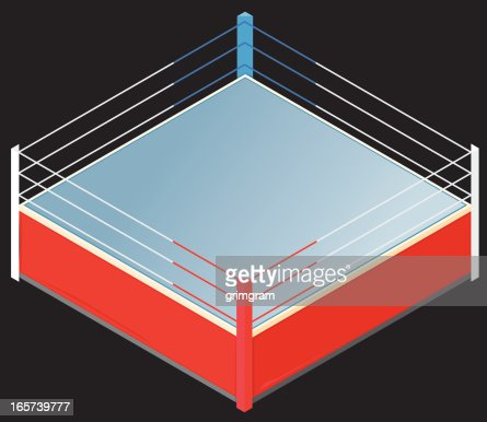 Isometric boxing ring vector art getty images ccuart Images