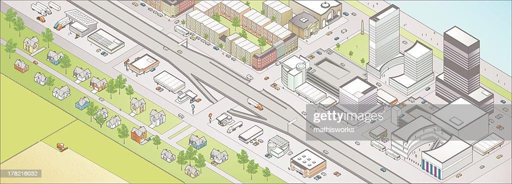 Isometric City : Vector Art