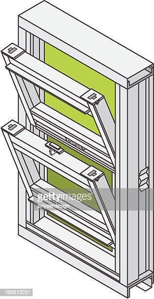 Isometric doppelte Hung Fenster