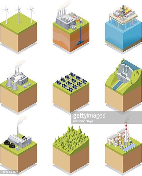 Isométricos de energía
