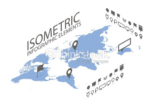 Isometric gps navigation concept world map application and marker isometric gps navigation concept world map application and marker pin vector art gumiabroncs Gallery