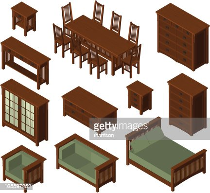 isometric mission furniture vector art getty images