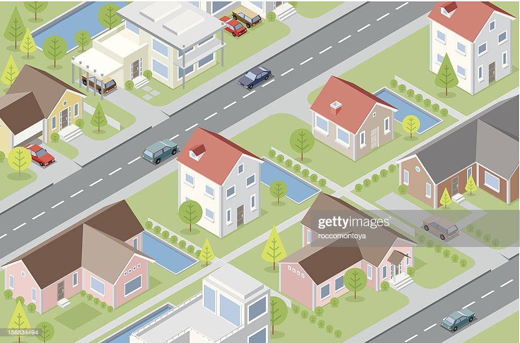 Isometric neighbor : Vector Art