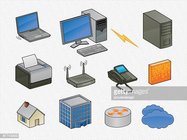 Isometric Networking Icons