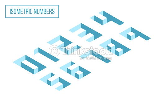 3D Isometric Numbers : stock vector